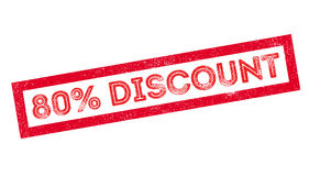 80-Prozent-Rabattstempel Lizenzfreies Stockfoto