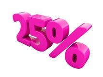 25 Prozent-rosa Zeichen Lizenzfreies Stockbild