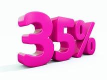 35 Prozent-rosa Zeichen stock abbildung