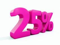 25 Prozent-rosa Zeichen Stockfotos