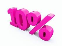 10 Prozent-rosa Zeichen Lizenzfreie Abbildung