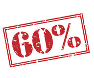 60-Prozent-Stempel auf weißem Hintergrund Lizenzfreie Stockfotografie