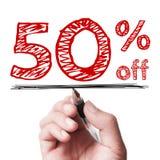 50 Prozent weg Stockfotos