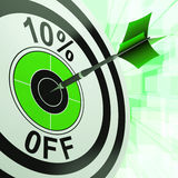 10 Prozent weg von der Show-Rabatt-Förderungs-Anzeige Lizenzfreie Stockfotografie