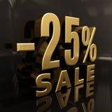 25 Prozent-Zeichen Lizenzfreie Stockfotos