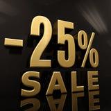 25 Prozent-Zeichen Stockbild