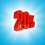 20 Prozent-Zeichen Stockfoto