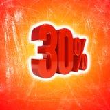 30 Prozent-Zeichen Stockbilder