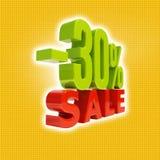 30 Prozent-Zeichen Stockfotografie
