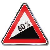 60 Prozent Zunahme warnen Stockbilder