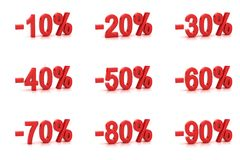 Prozente Stockfotografie