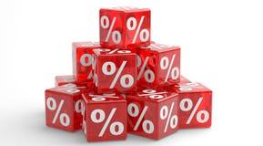 Prozente. Abbildung 3d. Lizenzfreie Stockfotos