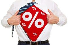 Prozente als Rabattsymbol Stockbilder