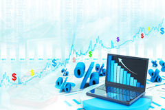Prozente Wachsen Lizenzfreie Stockfotos