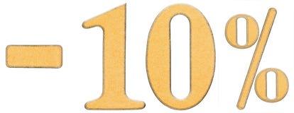 Prozente weg rabatt Minus 10 zehn Prozent lokalisierten Ziffern O Lizenzfreies Stockbild