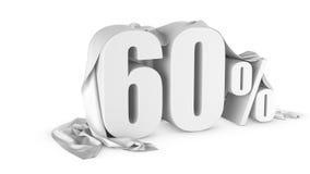 Prozentrabattikone Stockfoto