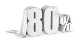 Prozentrabattikone Lizenzfreies Stockbild