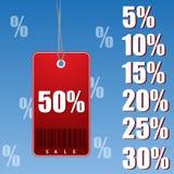 Prozentrabattmarke Stock Abbildung