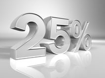 Prozentsatz 25% Lizenzfreie Stockbilder