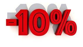 Prozentsatz-Rabattzahl der Wiedergabe 3d Stockbilder