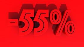 Prozentsatz-Rabattzahl der Wiedergabe 3d Lizenzfreie Stockbilder