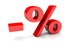 Prozentsatz-Zeichen Stockbild