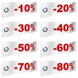 Prozentsatzfarbbänder Lizenzfreies Stockfoto