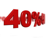 Prozentsatzzeichen Stockfotografie