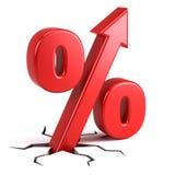 Prozentsatzzeichen Stockfoto