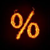 Prozentsatzzeichen für Verkauf Stockfoto
