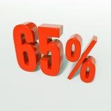 Prozentsatzzeichen, 65 Prozent Stockfoto