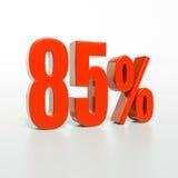 Prozentsatzzeichen, 85 Prozent Stockbild