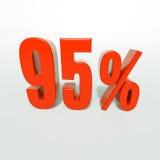 Prozentsatzzeichen, 95 Prozent Lizenzfreie Stockbilder