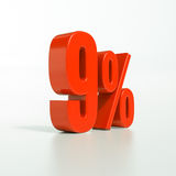 Prozentsatzzeichen, 9 Prozent Lizenzfreie Stockfotografie