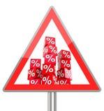 Prozentwürfel Stockfoto