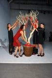 Prozess der Dekoration vor Ozgur Masur-Show Lizenzfreie Stockfotos