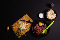 Prozess der Herstellung von Fleischklöschen Lizenzfreies Stockfoto