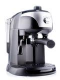 Prozess der Vorbereitung eines Espressos Stockfotografie