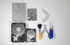 Prozess der Zerlegung der Festplatten Lizenzfreie Stockfotografie