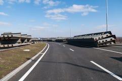 Prozess des Brückenbaus Stockfotografie