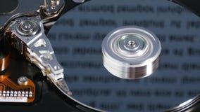 Prozess innerhalb des Festplattenlaufwerks stock footage