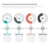 Prozess- und Fortschritt Infographics mit 04 Wahlen stock abbildung