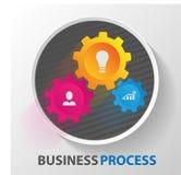 Prozess und Rad, Zahnrad Netzkommunikation mechanisch lizenzfreie abbildung