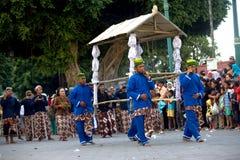 Prozession Banjar Harjo vom Dorf Lizenzfreies Stockbild