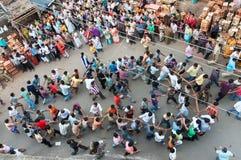 Prozession hindischen des Gott Ram, Sita und des Hanuman Lizenzfreie Stockbilder