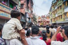 Prozession hindischen des Gott Ram, Sita und des Hanuman Lizenzfreies Stockbild