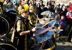 Prozession am Karneval in Villach/in Österreich stockfoto