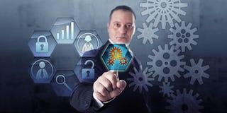 Prozessmanager Connects Gear Train und Arbeitsablauf Lizenzfreie Stockbilder