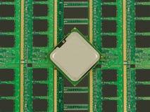 Prozessor und Gedächtnis Lizenzfreie Stockfotos