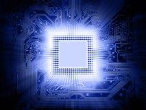 Prozessor und Motherboard stock abbildung